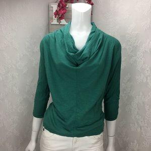 Lucy Knit Top Drape Neck Dolman Sleeve
